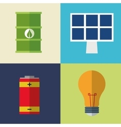 collection icons electrical energy vector image