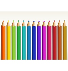 Colorful long pencils vector