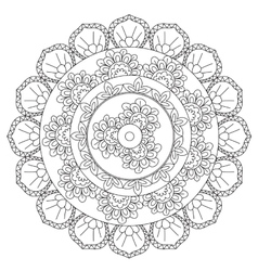 Coloring Outline Abstraction Mandala vector image
