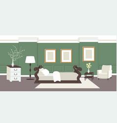 contemporary bedroom interior empty no people home vector image