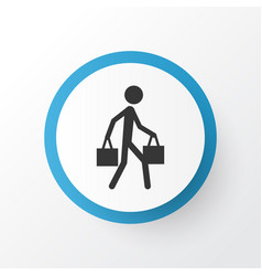 Courier icon symbol premium quality isolated vector