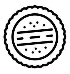 cracker biscuit icon outline style vector image