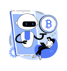 crypto trading bot abstract concept vector image