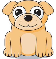 Cute puppy icon vector