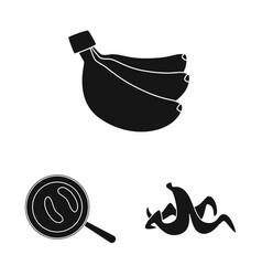 Design vitamin and eating symbol set of vector