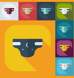 Flat modern design with shadow icons diapers vector