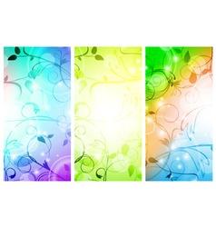 floral banner set vector image
