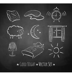Good night sketchy set vector
