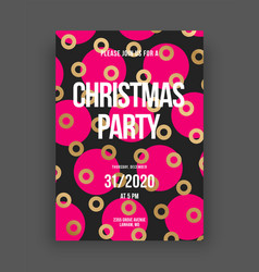 happy new year 2021 and merry christmas layout vector image