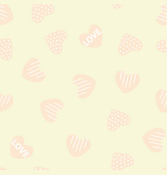 hearts pattern on a background vector image