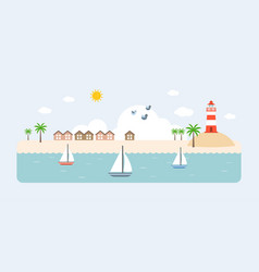 info graphic and elements of resort vector image