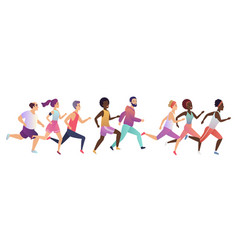 jogging running people sport running group vector image