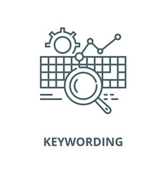 Keywording line icon linear concept vector