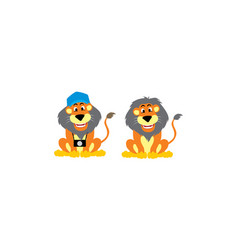 lion vacation logo icon vector image