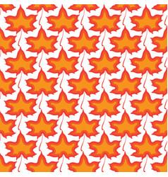 maple leaves seamless orange art background vector image