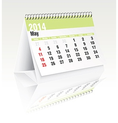 May 2014 desk calendar vector