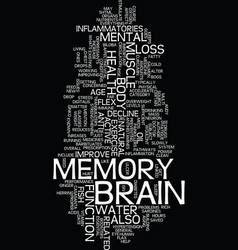Memory power flex your mental muscle text vector