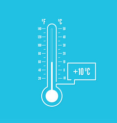 Meteorology thermometer vector