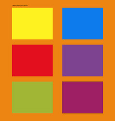 Mockups ansi a format andy warhol style vector