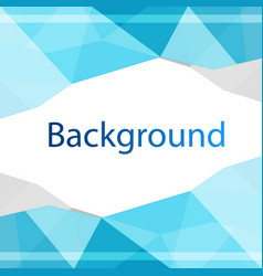 modern blue polygon design background image vector image