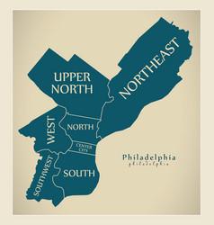 Modern city map - philadelphia city of the usa vector