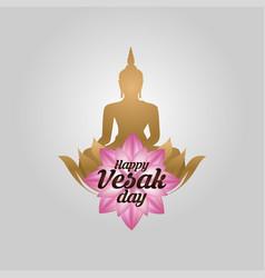 of happy vesak day or buddha purnima background vector image