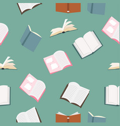 open books pattern vector image