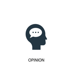 Opinion icon simple element vector