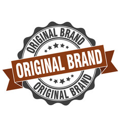 Original brand stamp sign seal vector