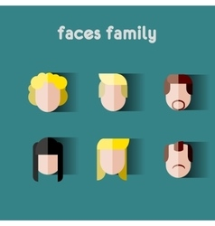 Person family Simple icons vector