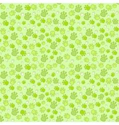 Pet paw imprint seamless pattern vector image