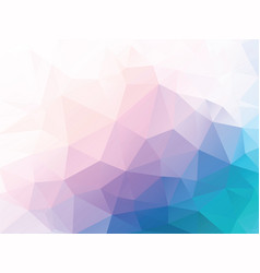 pink blue low poly background vector image