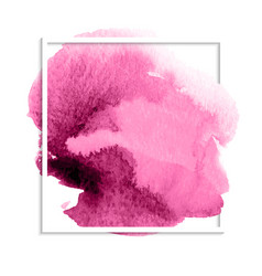 Pink watercolor stain vector
