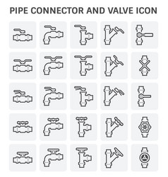 pipe connector valve vector image