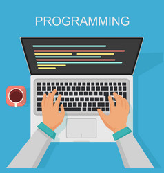 Programming coding web development concept vector