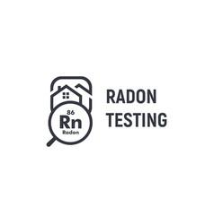 radon testing first alert kit logotype home rn vector image
