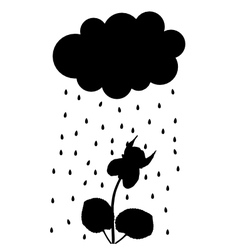 Rain cloud and viola vector