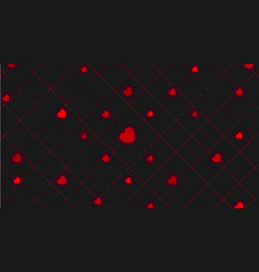 red hearts abstract st valentines day pattern vector image