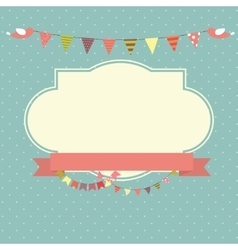 Retro Vintage Background with Frame Template vector image