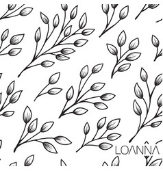 seamless plant pattern vector image