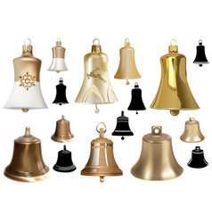 set of bells as elements of christmas design vector image