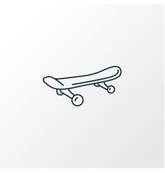 skateboard icon line symbol premium quality vector image