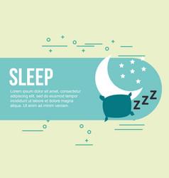 Sleep relax healthy good habits vector