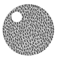 Sphere composition of dollar and dots vector