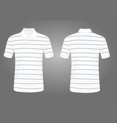 striped white polo t shirt vector image