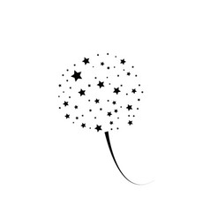 stylized cartoon black fireworks with stars vector image