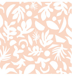 subtle pink and white floral background vector image