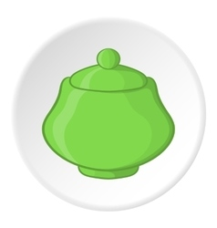Sugar bowl icon cartoon style vector image