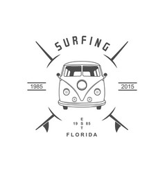 surfing logotype vector image