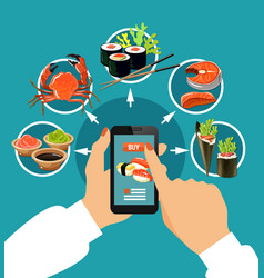 sushi colored concept vector image
